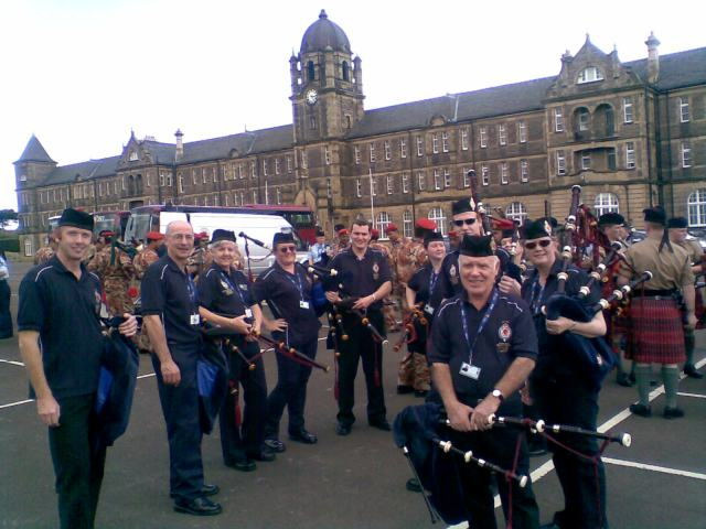 Rehearsals at Redford Army Barracks, Edinburgh, Scotland