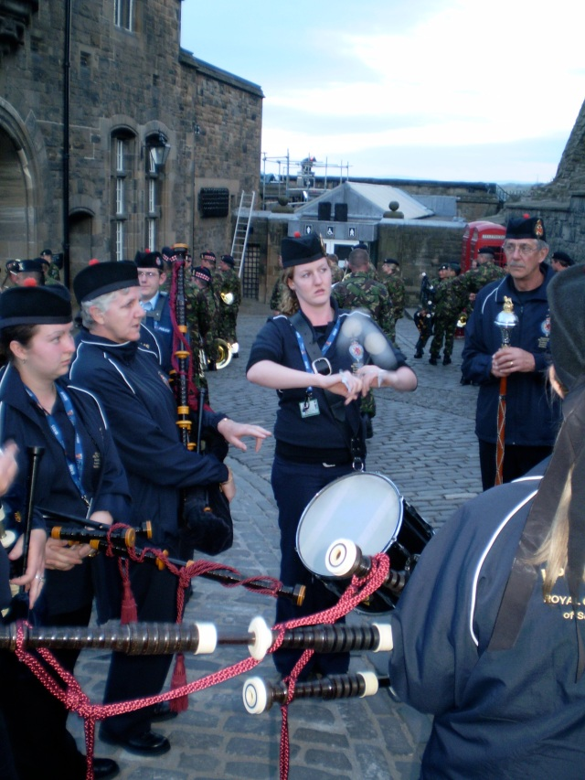 Rehearsals at Edinburgh Castle