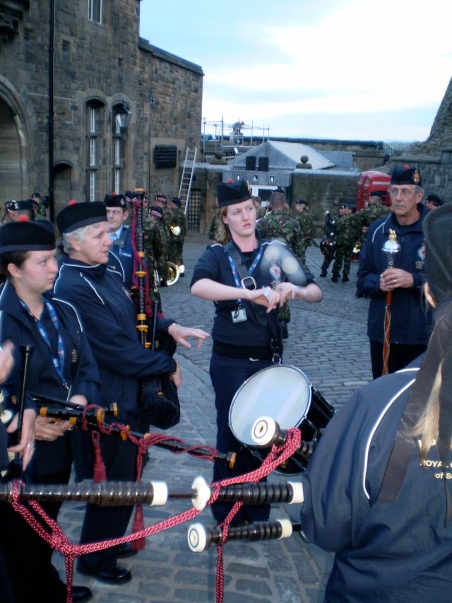 Rehearsals at Edinburgh Castle