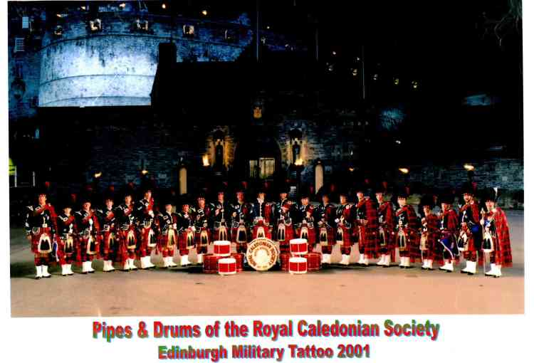 2001 RCS Pipes and Drums Edinburgh Military Tatoo