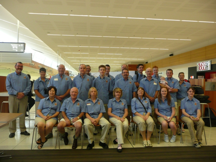 2010 Tattoo Sydney Band Members - Adelaide Airport