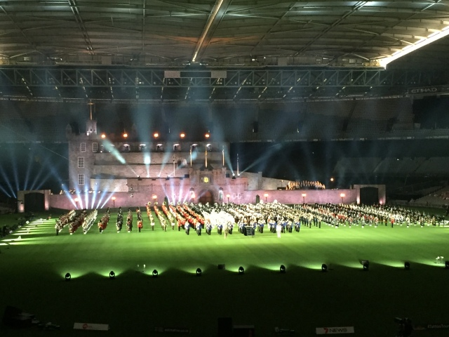 The Royal Edinburgh Military Tattoo in Melbourne February 2016