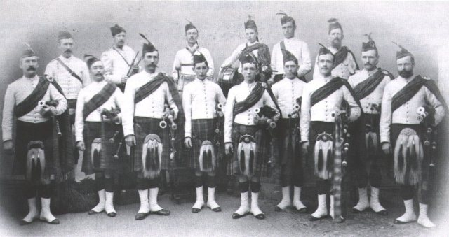 1900 approx Early SA Caledonian Pipe band