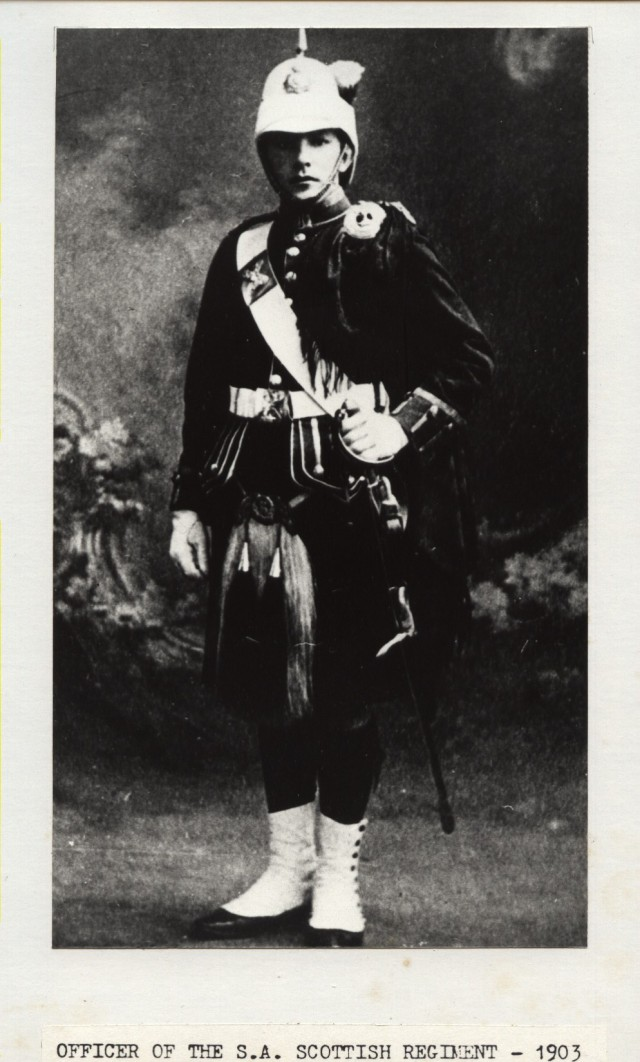 1903 Officer of the SA Scottish Regiment