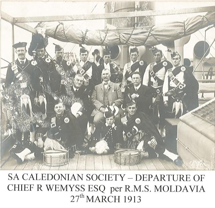 1913 Departure of Chief Weymss