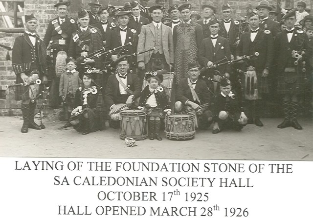 1925 Laying Foundation stone Oct1