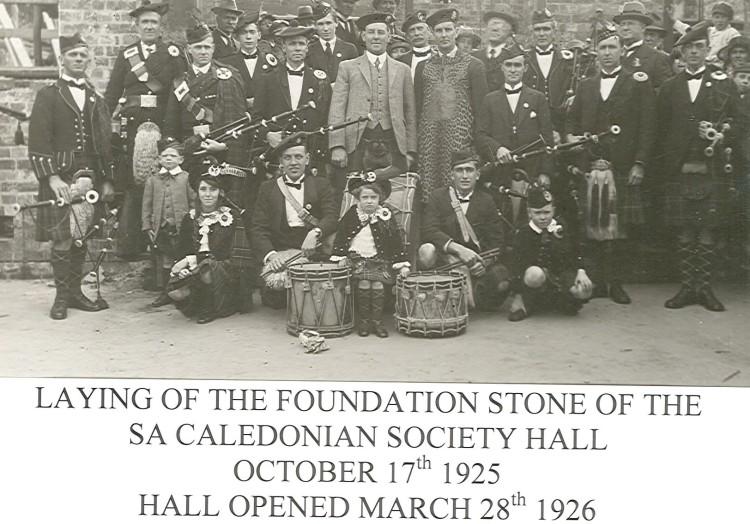1925 Laying Foundation stone Oct1