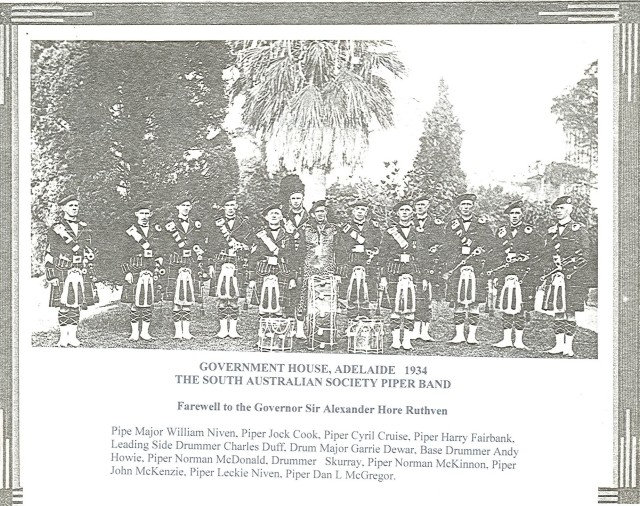 1934 Band Farewell to Governor