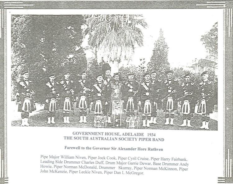 1934 Band Farewell to Governor