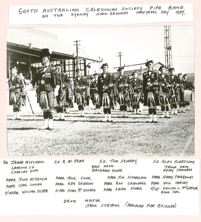 1937 SA Caledonian Society Pipeband - Sydney