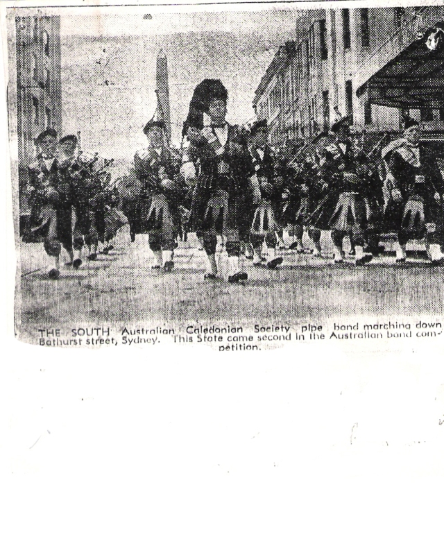 1938 SA Caledonian Society Pipe Band in Sydney
