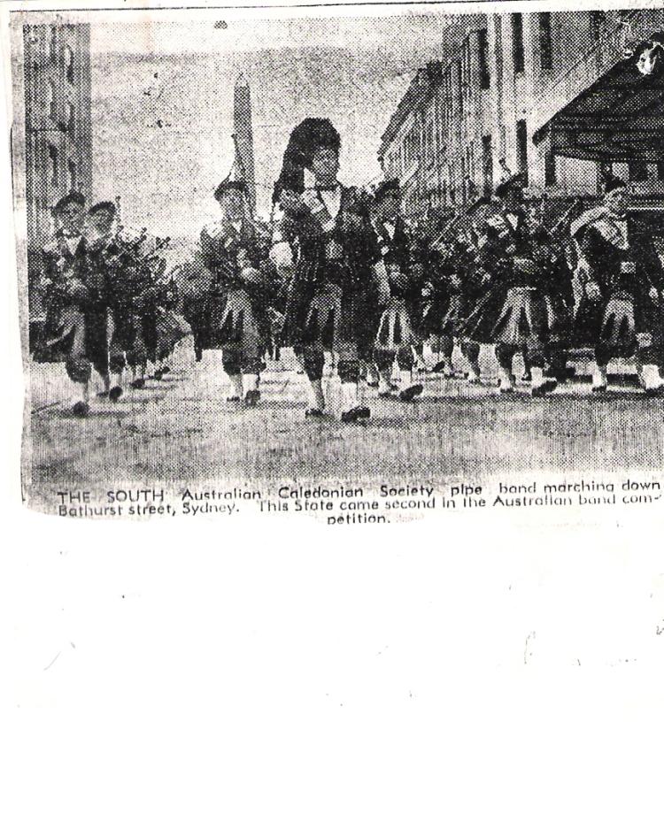 1938 SA Caledonian Society Pipe Band in Sydney