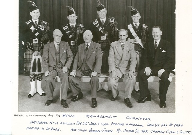1950's Pipe Band Management