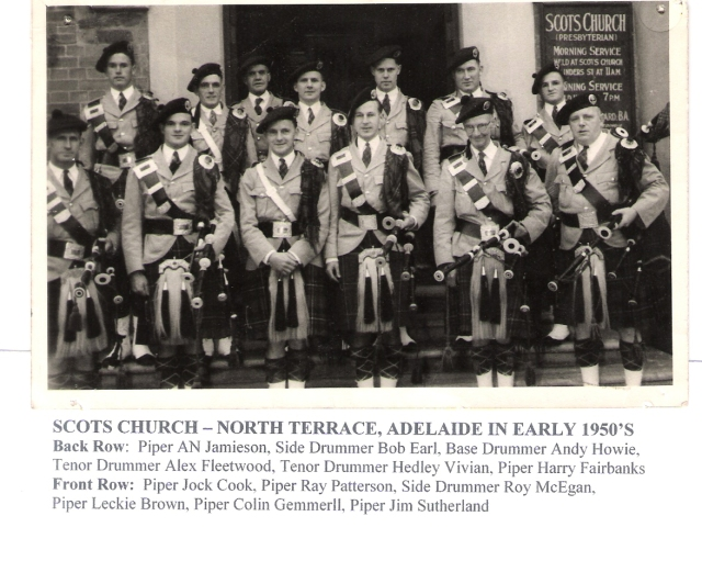 1950's RCS - Band Scots Church North Terrace