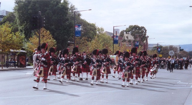 2007 Pipes & Drums RCS Anzac Day